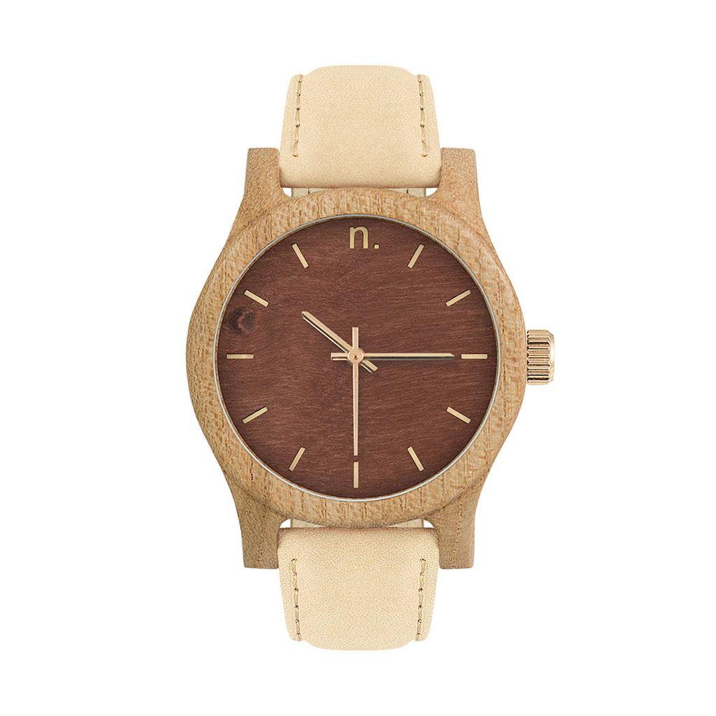 Dámske drevené hodinky Classic - Čokoládovo bežové