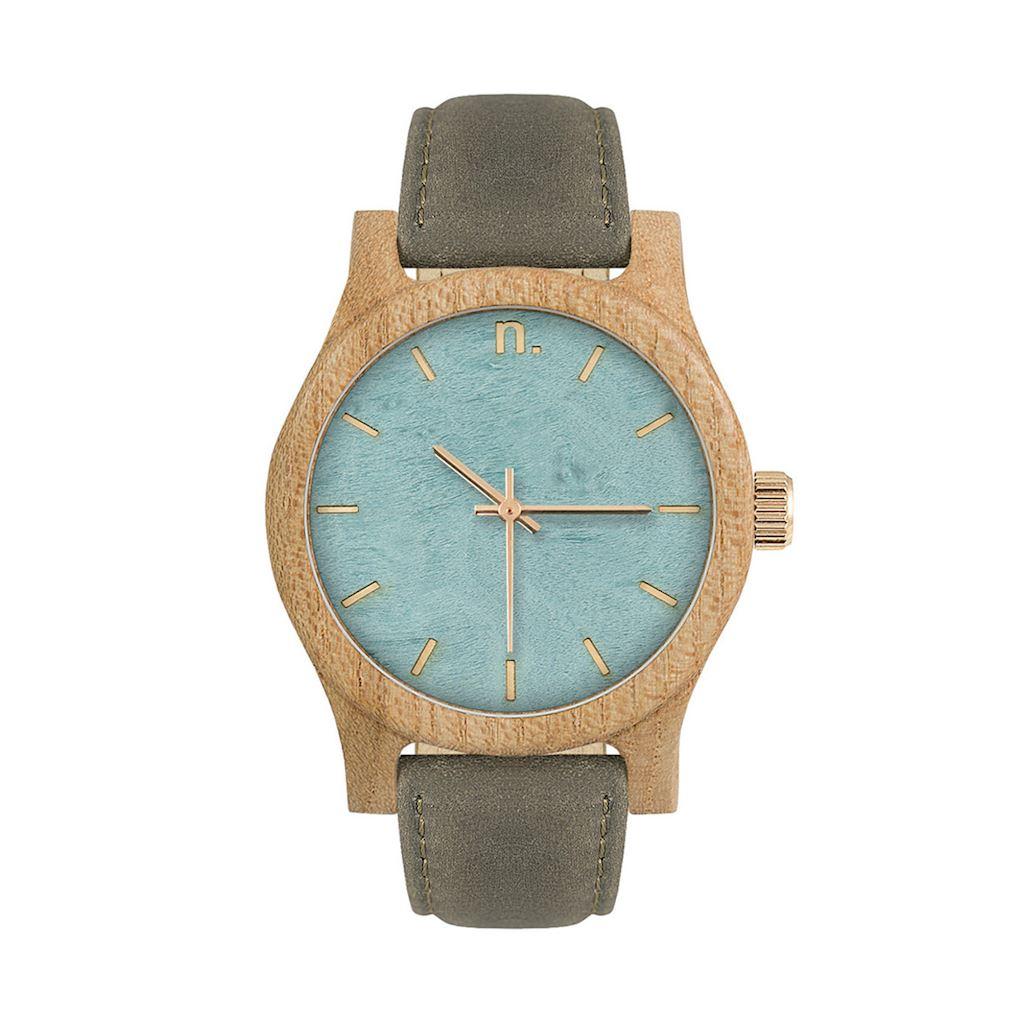 Dámske drevené hodinky Classic - Modro sivé