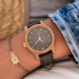 Dámske drevené hodinky Classic - Sivé