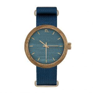Dámske drevené hodinky New hoop - Tmavo modré