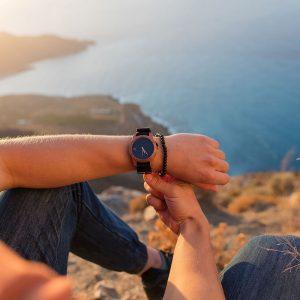 Drevené hodinky Sport - Čierne