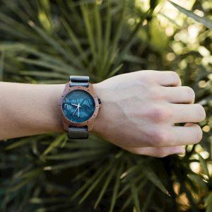 Drevené hodinky Sport - Sivé
