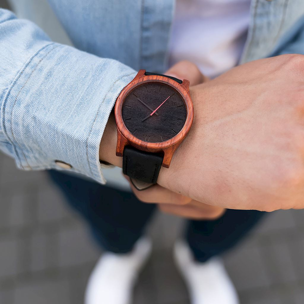 Pánske drevené hodinky Classic - Čierne
