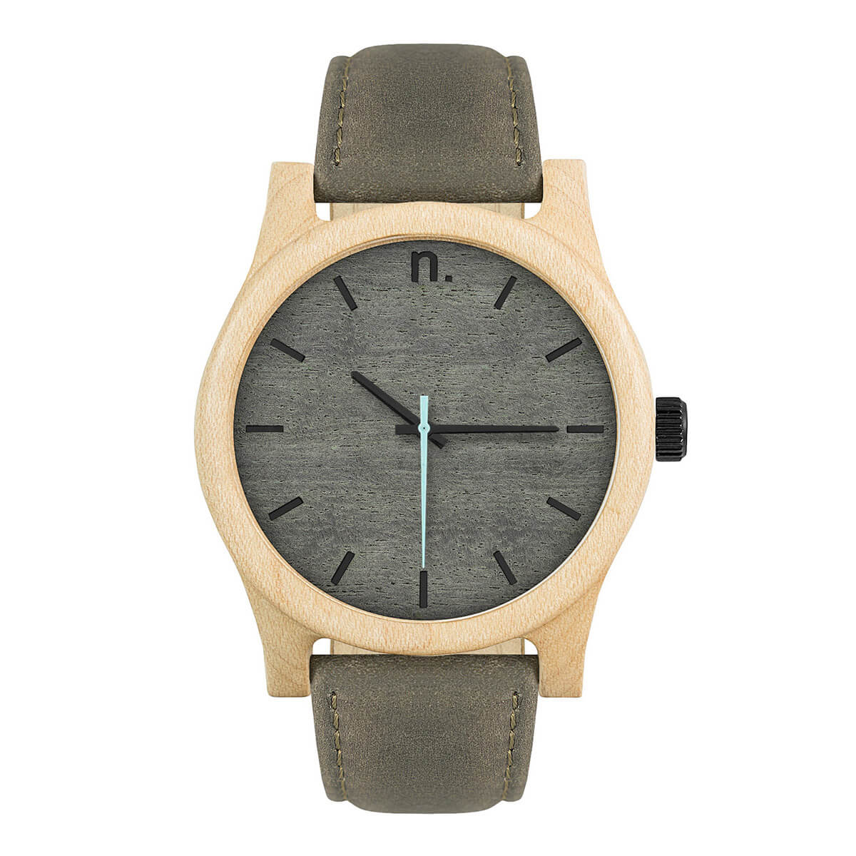 Pánske drevené hodinky Classic - Šedo čierne
