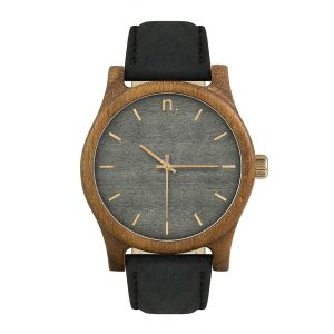 Pánske drevené hodinky Classic - Šedo zlaté