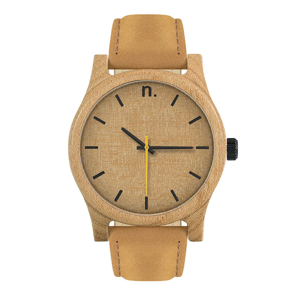 Pánske drevené hodinky Classic - Škoricovo béžové