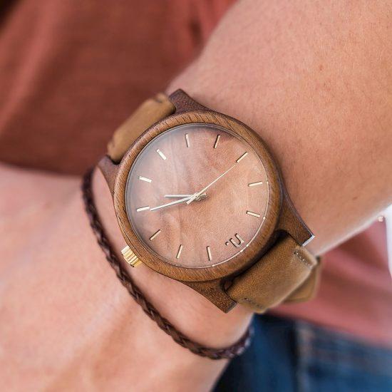 Pánske drevené hodinky Classic - Škoricovo hnedé