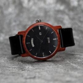 Pánske drevené hodinky Knight - Čierne