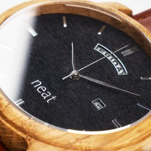 Pánske drevené hodinky Knight - Čierno hnedé