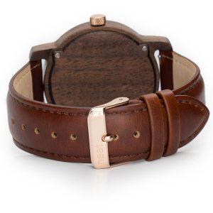 Pánske drevené hodinky Knight - Hnedé