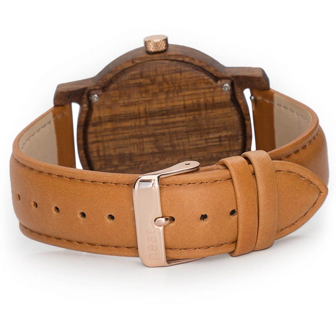 Pánske drevené hodinky Knight - Hnedo modré