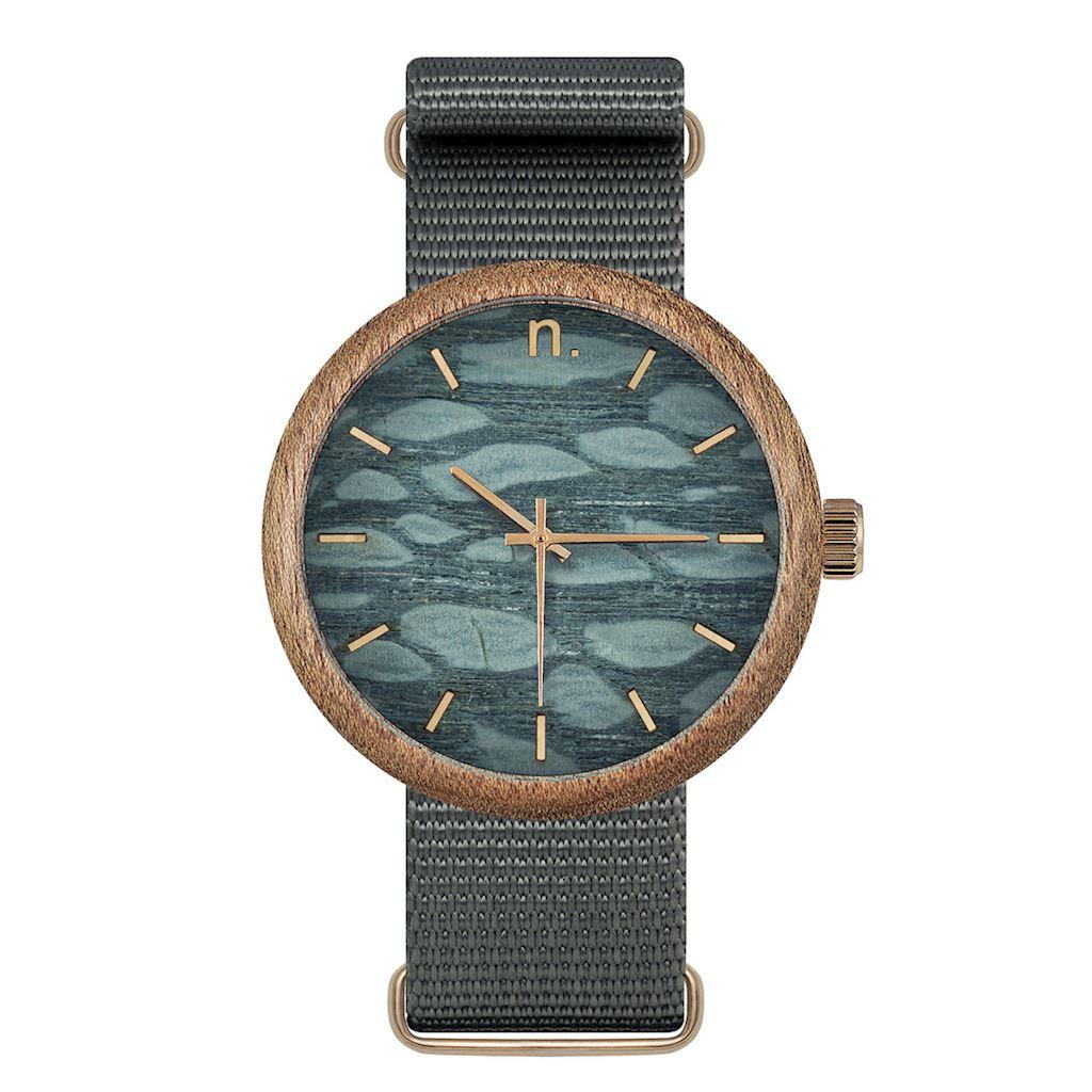 Pánske drevené hodinky New hoop - Sivé