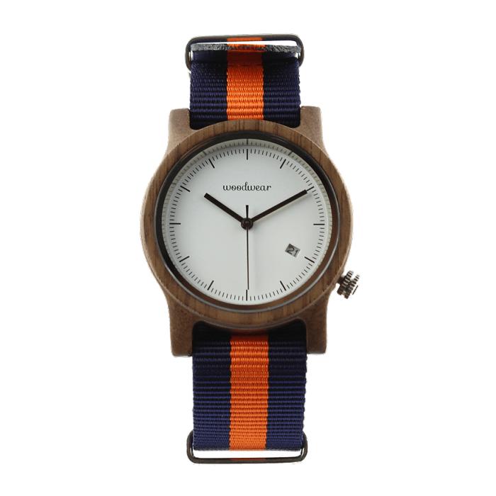 Dámske drevené hodinky - Spectro Blue/Orange