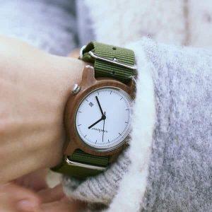 Dámske drevené hodinky - Spectro Khaki