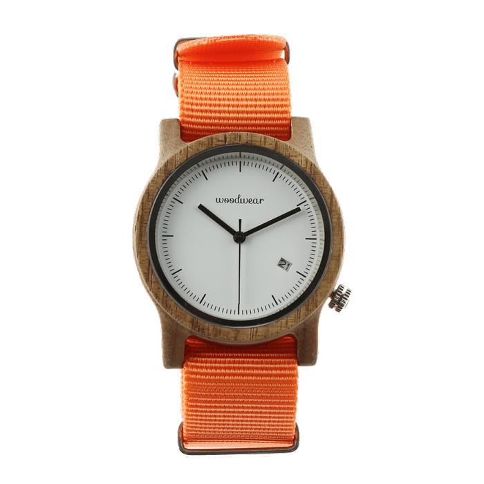 Dámske drevené hodinky - Spectro Orange