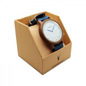 Drevené hodinky - Deep Blue