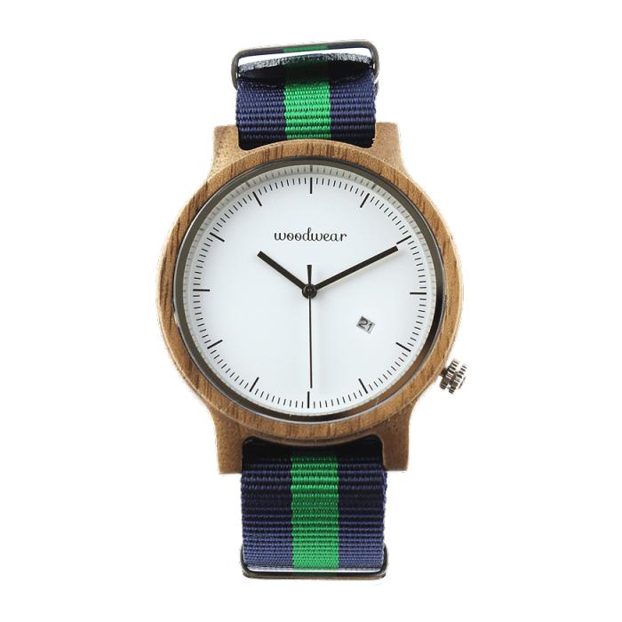Pánske drevené hodinky - Spectro Blue/Green