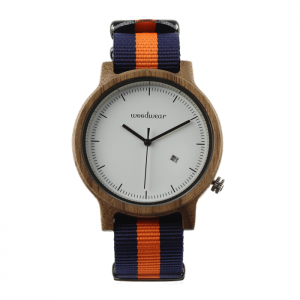 Pánske drevené hodinky - Spectro Blue/Orange
