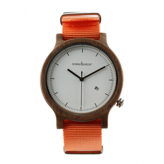 Pánske drevené hodinky - Spectro Orange