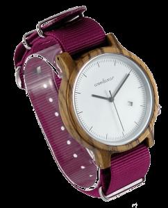 Pánske drevené hodinky - Spectro Pink