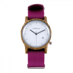 Dámske drevené hodinky - Spectro Pink