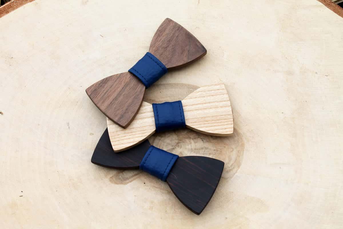 Detský drevený motýlik – Modrý