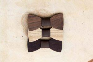 Detský drevený motýlik – Tmavohnedý