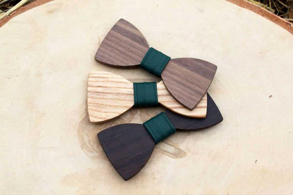 Detský drevený motýlik – Zelený