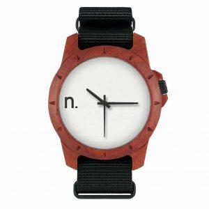 Drevené hodinky Sport - Bielo čierne