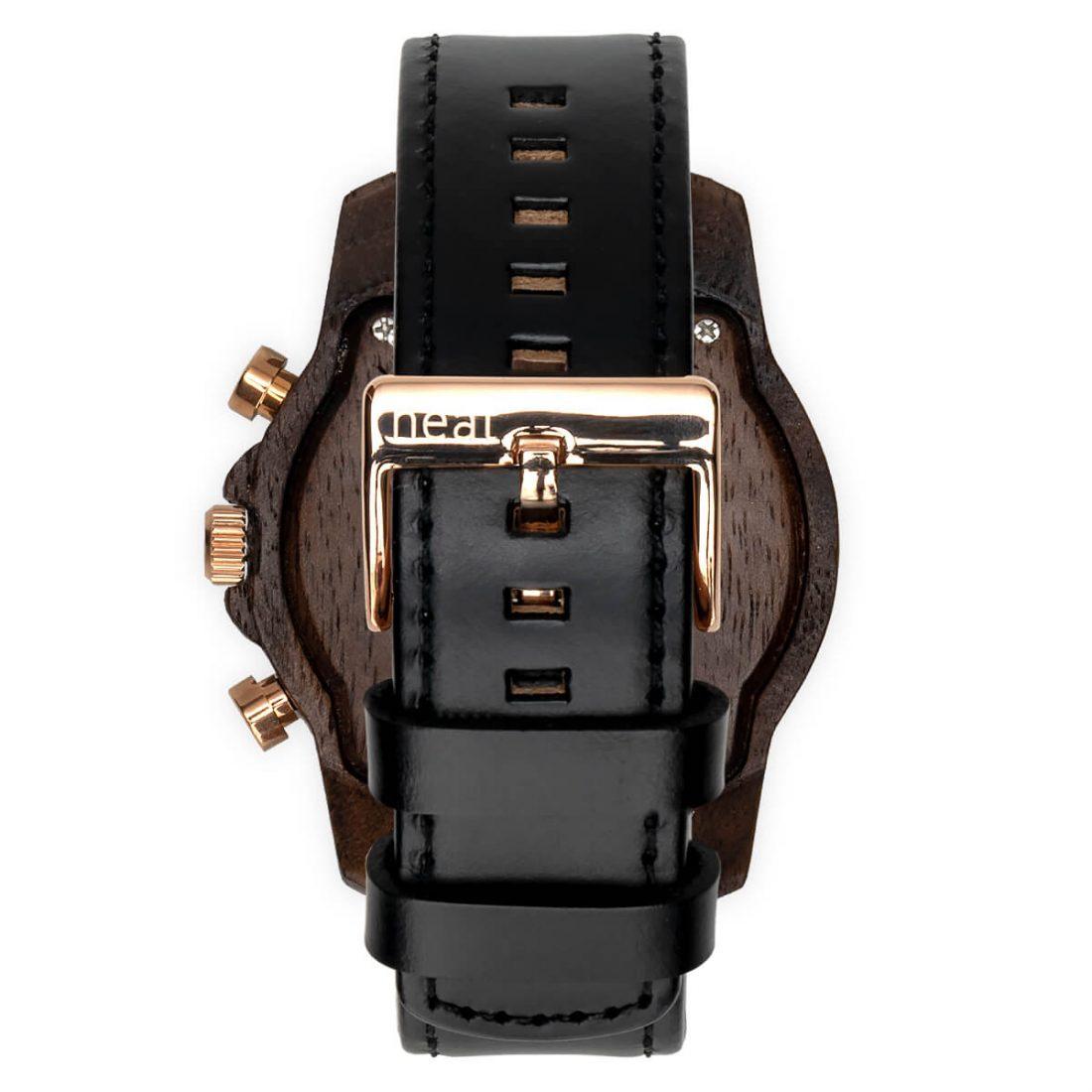 Pánske drevené hodinky Chrono - Čierno zlaté