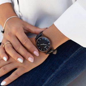 Dámske hodinky Slim – Čierno strieborné