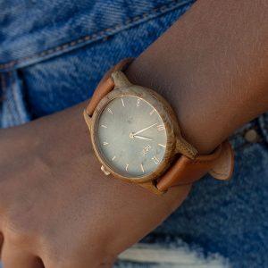 Dámske hodinky Slim – Škoricovo zelené