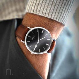 Pánske hodinky Elegant– Čierno strieborné