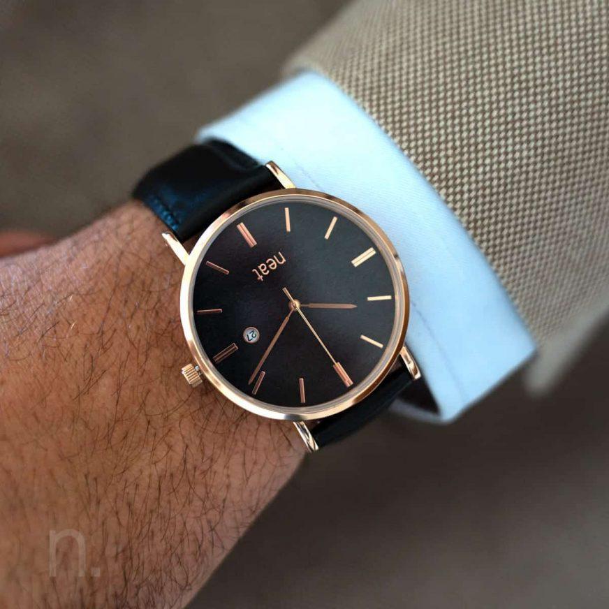 Pánske hodinky Elegant – Čierne