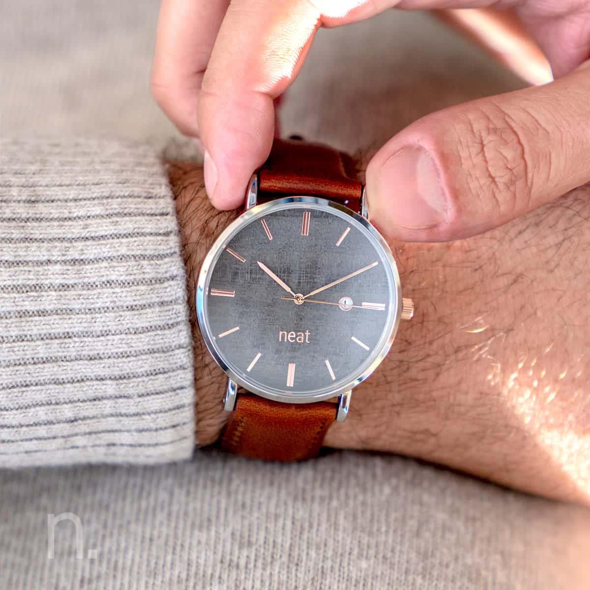 Pánske hodinky Elegant – Šedé