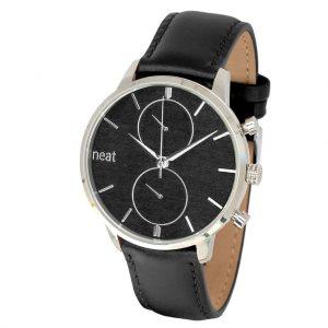 Pánske hodinky Steel Chrono – Čierno strieborné