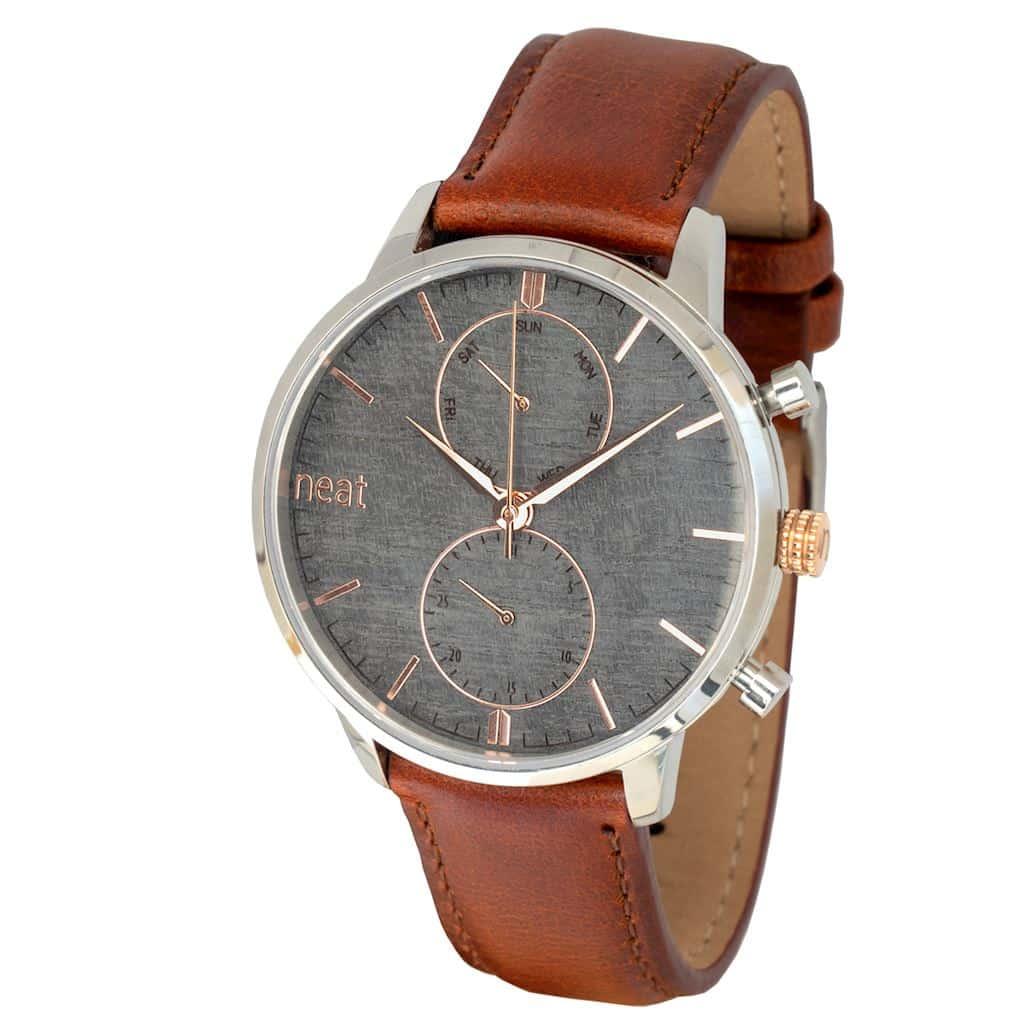 Pánske hodinky Steel Chrono – Šedo zlaté