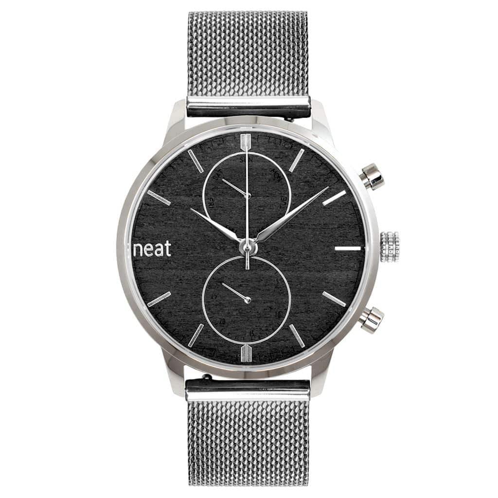 Pánske hodinky Steel Chrono – Strieborné