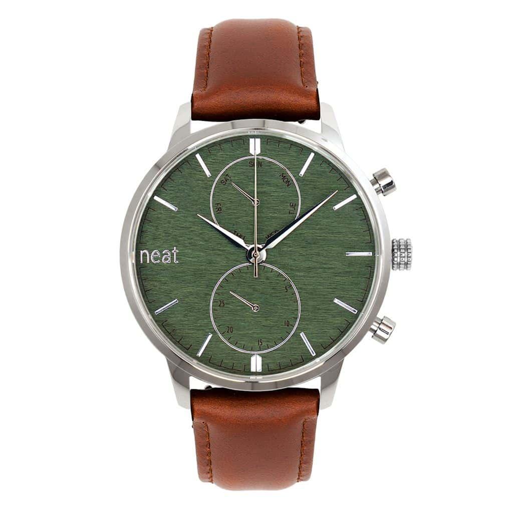 Pánske hodinky Steel Chrono – Zelené