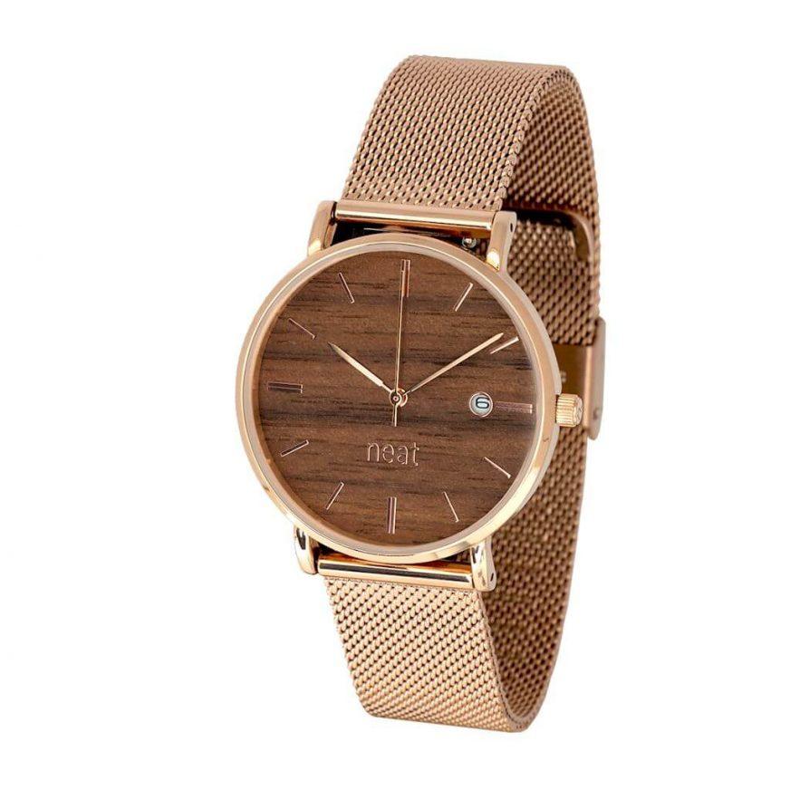 Dámske hodinky Exclusive – Hnedo zlaté