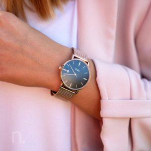 Dámske hodinky Exclusive – Modro zlaté